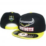 NRL Snapback Gorra North Queensland Cowboys Negro Amarillo